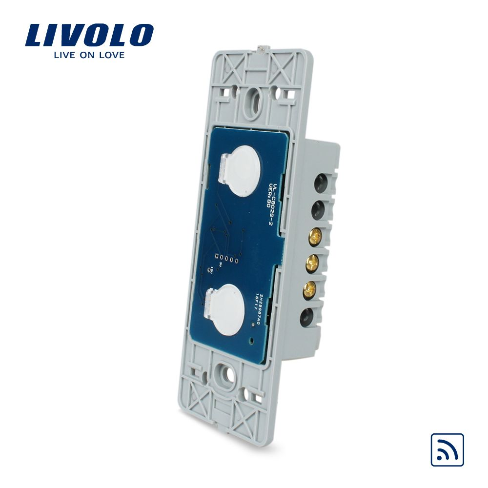 Livolo US standard Wall Light Remote Touch Switch Base Board ,2gang 1way ,Without Crystal Glass Panel, VL-C502R