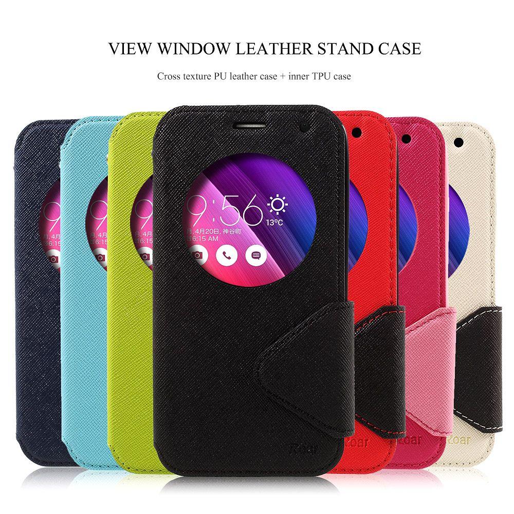 ROAR KOREA for Asus Zenfone 2 Laser ZE500KL Case View Window Leather Stand Case for Zenfone 2 Laser ZE500KG ZE500KL Cover 5.0