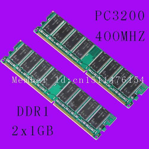 Nouveau bureau 2 GB DDR1 Chipset 2 X 1 GB 1 GB PC3200 DDR 400 Mhz faible densité mémoire 2Rx8 CL3 DIMM livraison gratuite