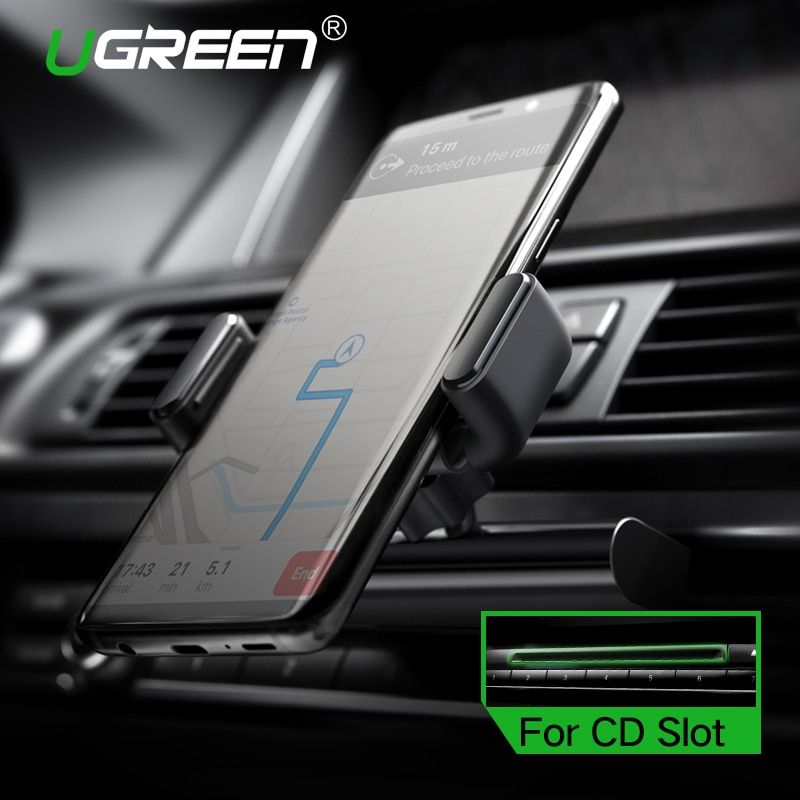 Ugreen Car Phone Mount CD Slot Car Phone Holder for iPhone 8 Magnetic Holder Stand Clip <font><b>Cell</b></font> Phone Holder for Huawei Tablet GPS