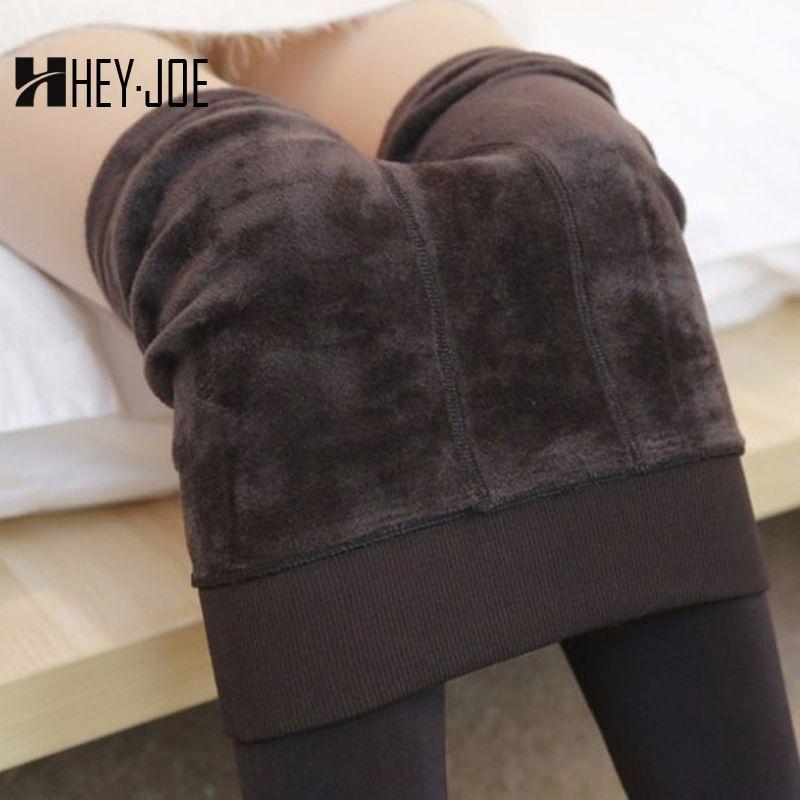HEYJOE 2017 automne hiver mode femmes Plus cachemire collants haute qualité tricoté velours collants élastique mince chaud épais collants