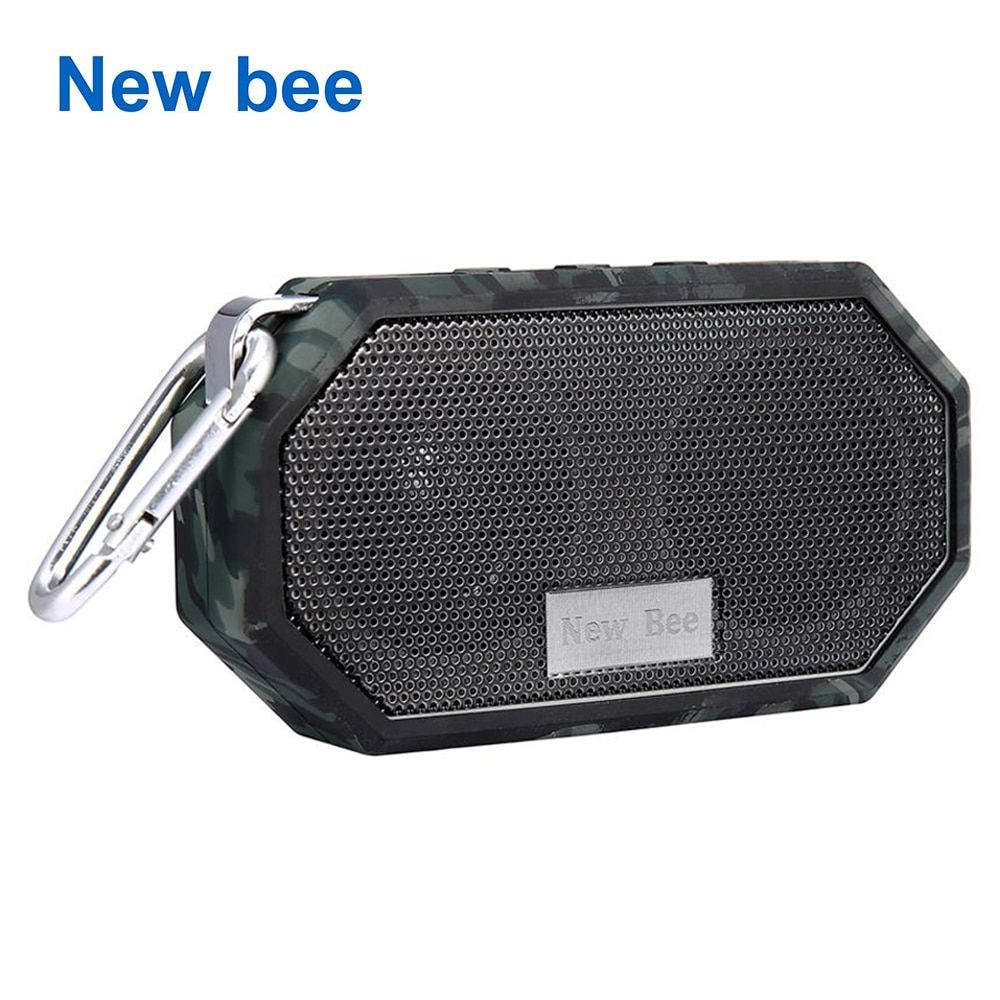 New Bee Portable Mini Wireless Bluetooth <font><b>Speakers</b></font> Waterproof subwoof Shower Outdoor <font><b>Speaker</b></font> Hands-free with Mic for Phone PC