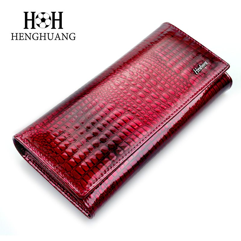 HH Women Wallets and Purses Luxury Brand Alligator Long Genuine Leather <font><b>Ladies</b></font> Clutch Coin Purse Female Crocodile Cow Wallet