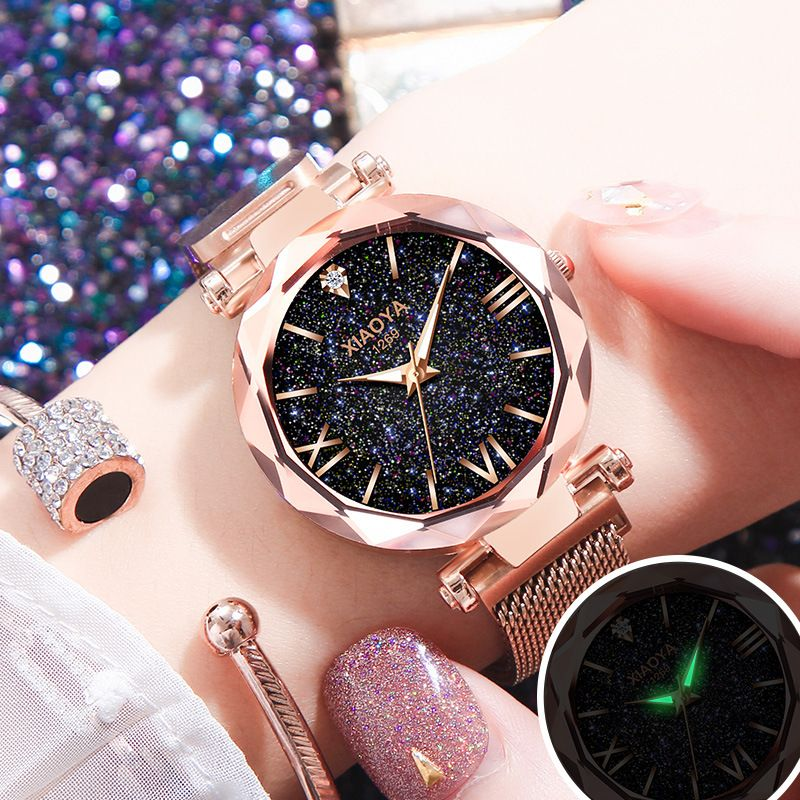 Zegarek Damski 2018 Watches Women Luxury Fashion Starry Sky Wristwatches for Ladies Rhinestone Quartz Watches relogio feminino
