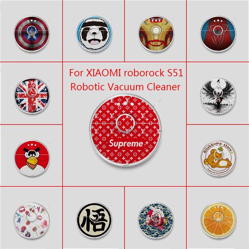 20 Modèles Vinyle Wrap pour Xiaomi Robot Nettoyeur roborock S51 Robotique Autocollant Slap De Protection Film Livraison Gratuite