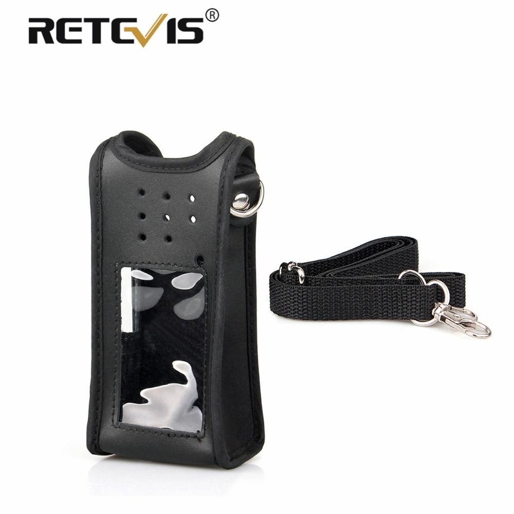 Customized Walkie Talkie Holster Leather Carrying Holder Case For Retevis Ailunce HD1 Dual Band DMR Ham Radio Accessories J9131H