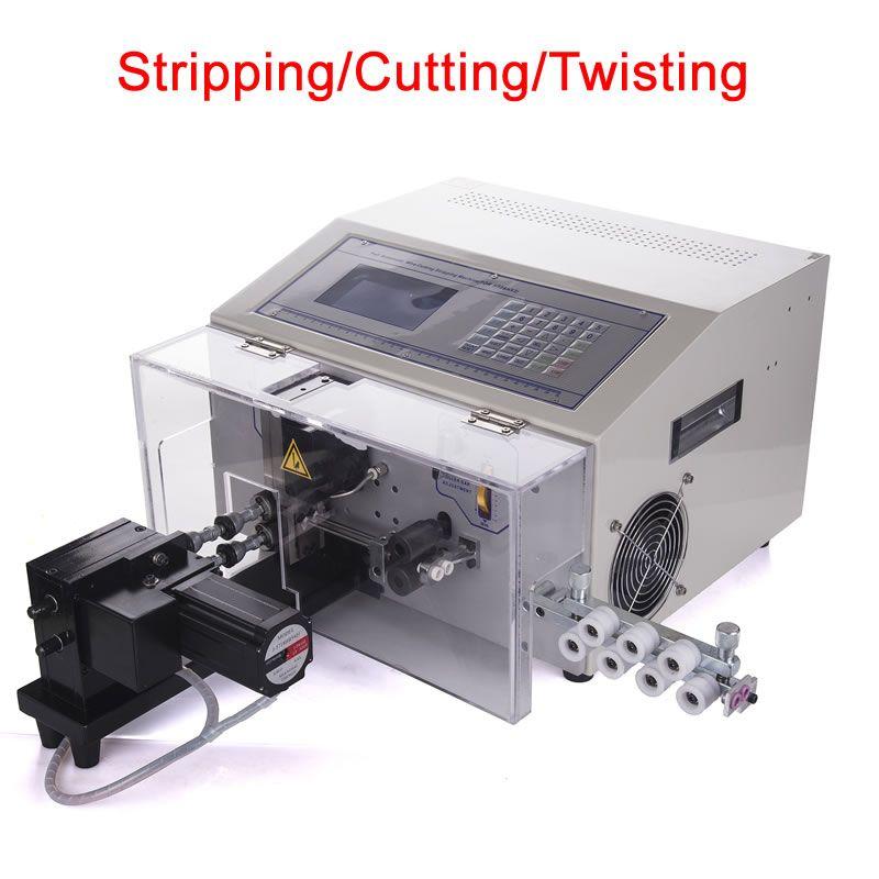 SWT508-NX2 draht 3 in 1 abisolieren schneiden verdrehen maschine digitale automatische kabel cutter 220V 110V