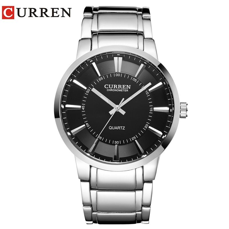 curren famous watches quart watch design sport <font><b>steel</b></font> clock top quality military men male luxury Metal watchband 8001B