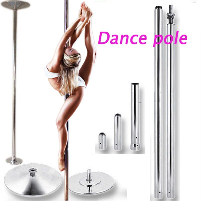 Stripper pole dance 360 Spin Professionelle Dance Pole Abnehmbare ausbildung pole X POLE Kit EINFACHE Installation fedex ups FreeShipping