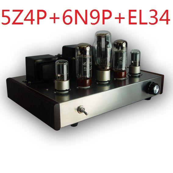 2017 Nobsound promotional single end Tube Amplifier Mounted Version 5Z4P+6N9P+EL34-B suite electron tube amplifier 13W+13W