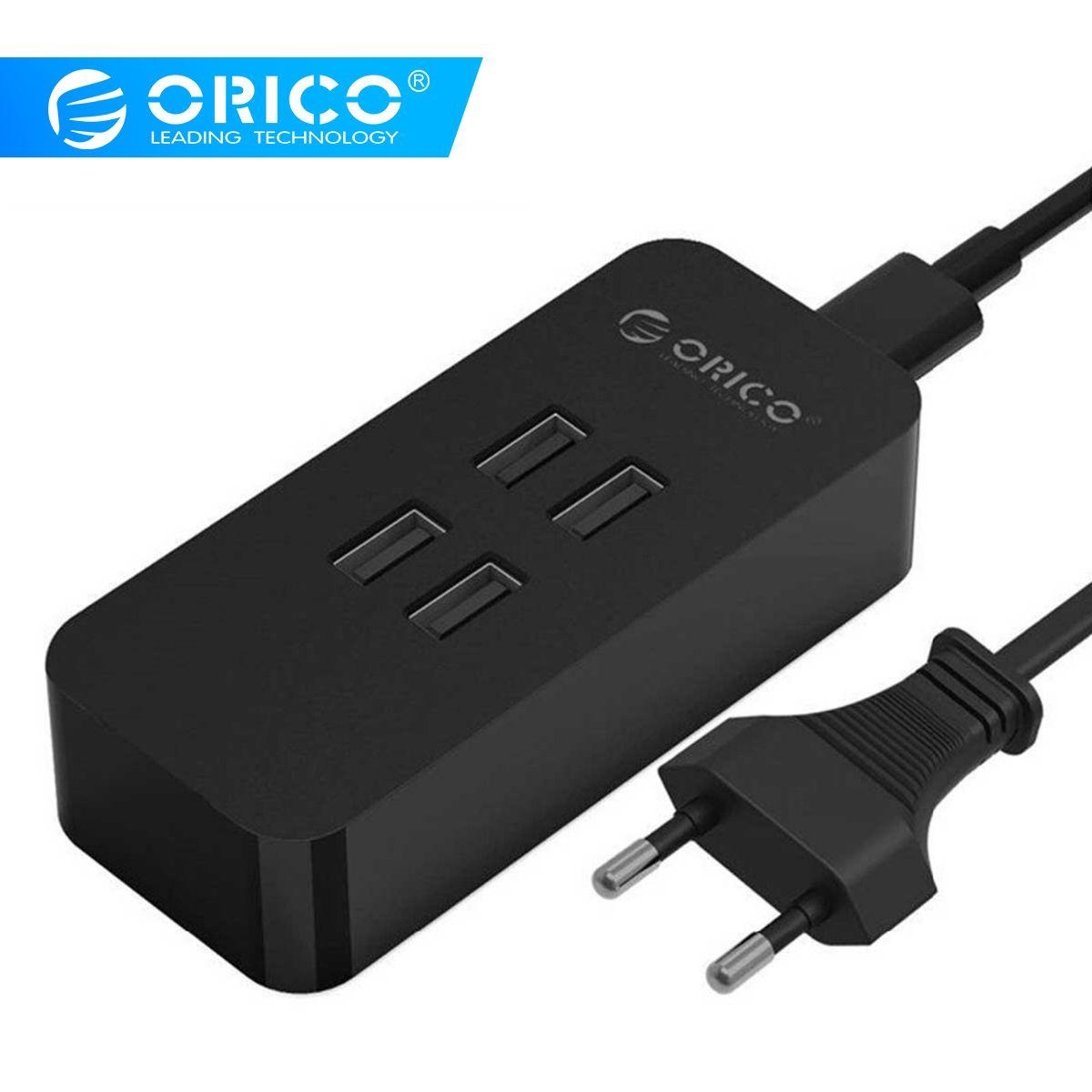 ORICO 4 Ports USB chargeur Mini Station de chargement intelligente Station de chargement 5V2. 4A * 4 sortie Max 20 W chargeur de bureau pour chargeur de téléphone intelligent