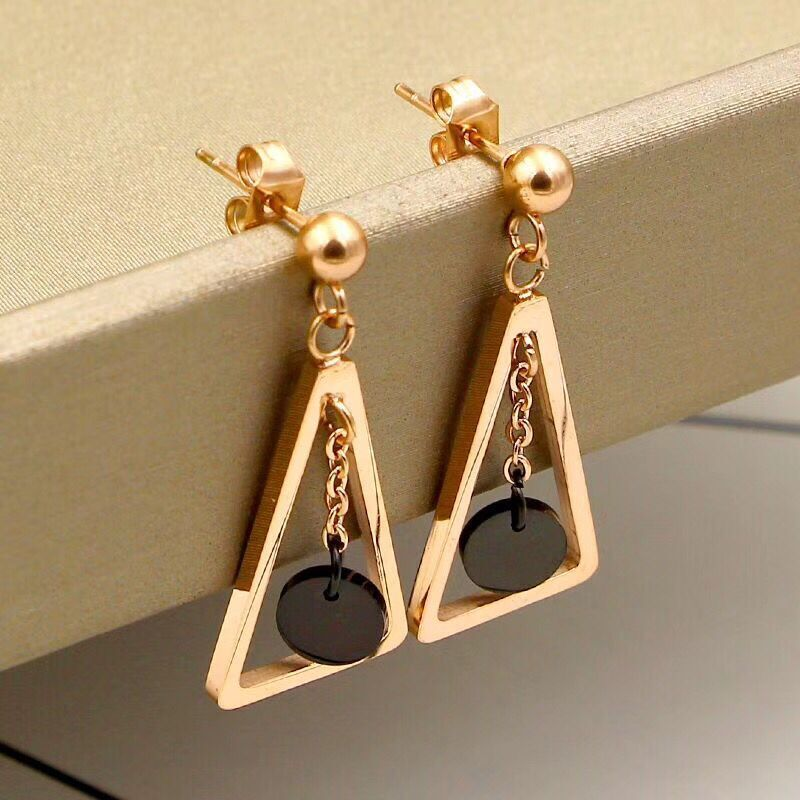 CH-48  Simple Design Geometric Earrings Female Transparent Big Round Circle Acrylic Earrings For Women Brincos Jewelry
