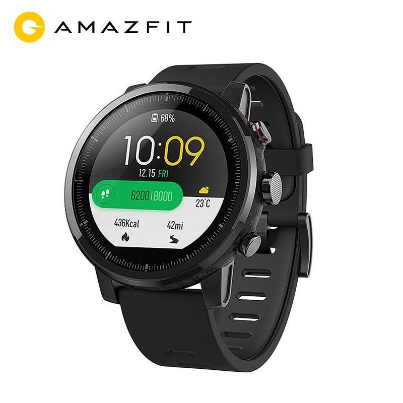 Smart Uhr Globale Version Original Xiaomi Huami Amazfit Stratos 2 Sport GPS 5ATM Wasser GPS Firstbeat Schwimmen Smartwatch