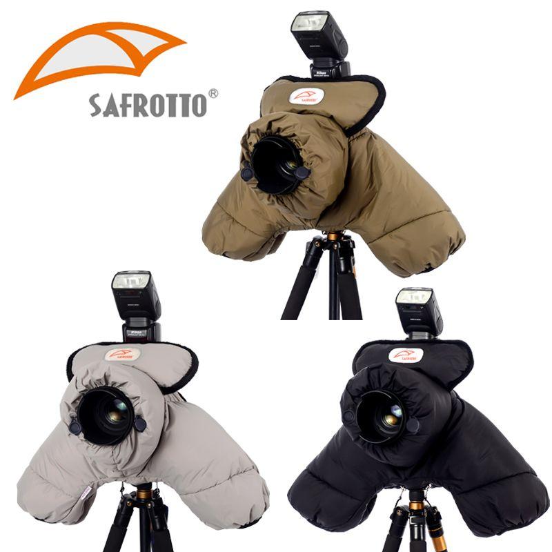 Safrotto professionnel bonne qualité accessoire photographique DSLR SLR résistant au froid protecteur coton garder au chaud étanche caméra couverture