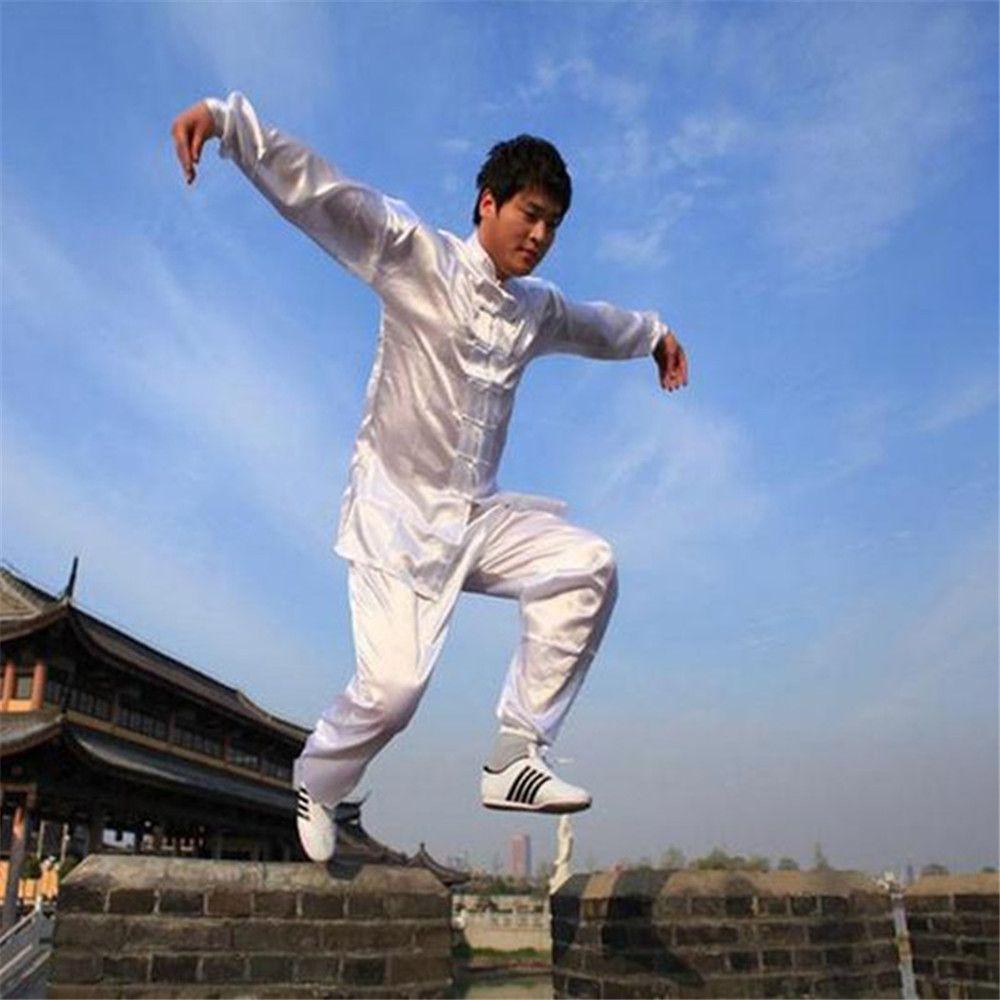Chinois Kung Fu Costume Tai Chi Vêtements de Soie Uniforme Martiaux Art Unform taiji wushu kung fu taiji vêtements bruce lee uniforme 2017