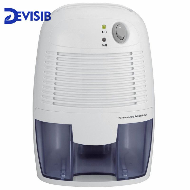 DEVISIB Mini Powerful Small-Size 500ml Home Air Dehumidifier for Smaller Room, Basement, Attic, Boats, RV's and Antique Cars