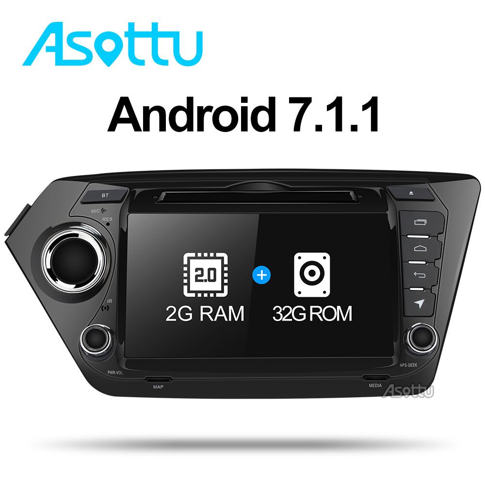 Asottu ZK28060 2G + 32G android 7.1 auto-dvd gps autoradio gps-navigation video player für Kia rio k2 auto multimedia player