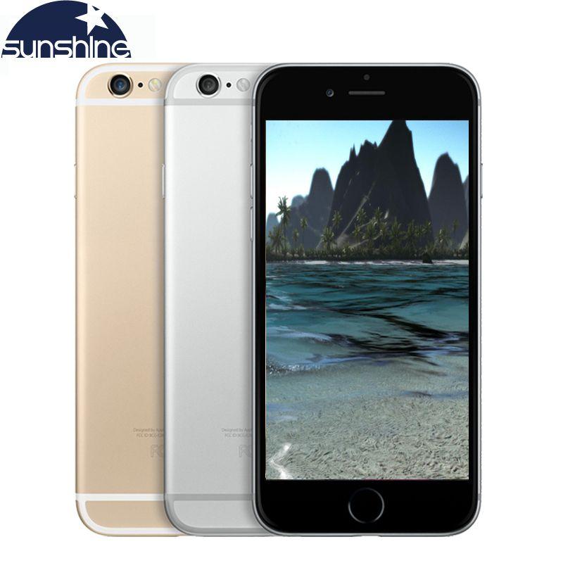 Original Unlocked Apple iPhone 6/iPhone 6 <font><b>Plus</b></font> LTE Used Mobile Phone 1GB RAM 16/64/128GB ROM iOS Cell phone