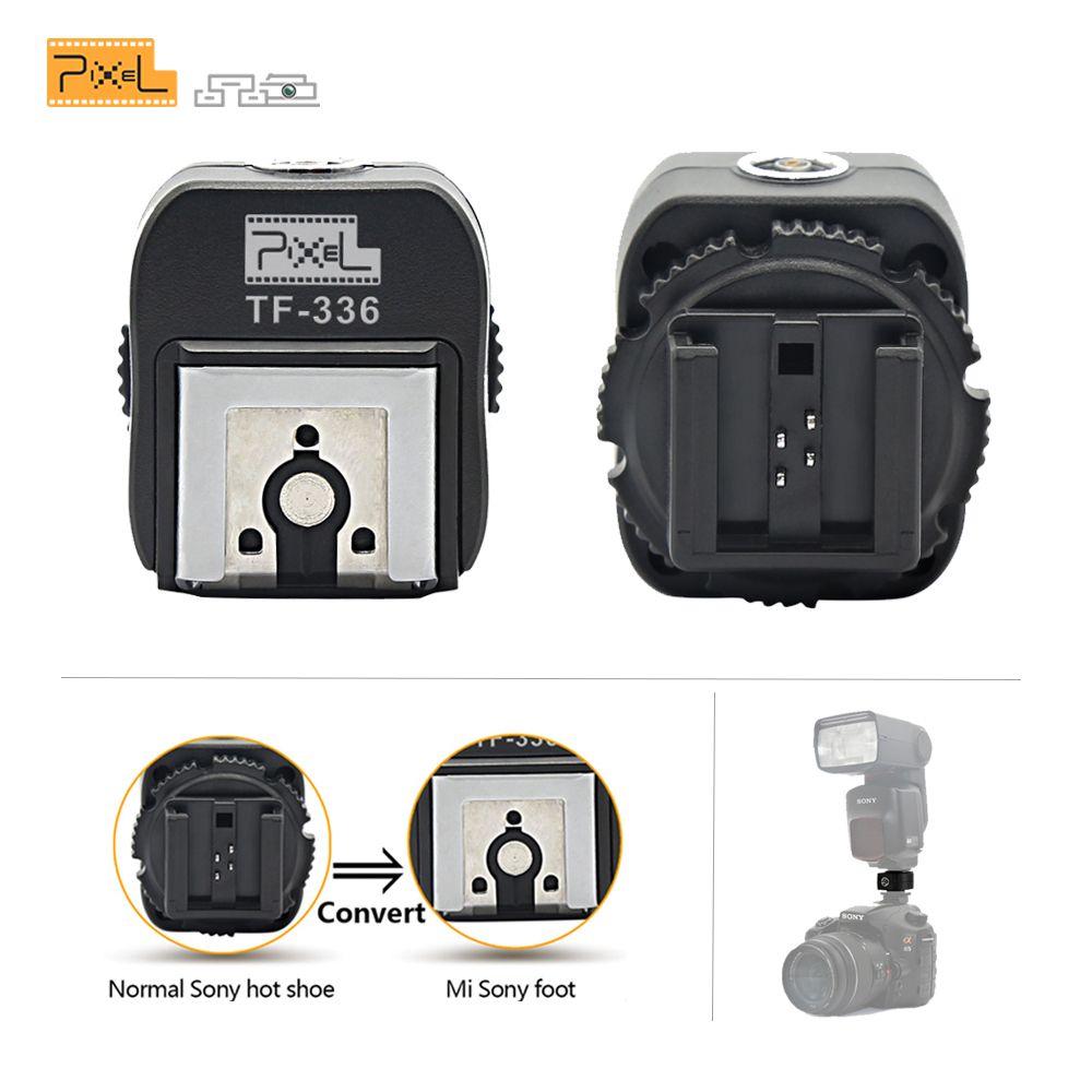 Convertisseur d'adaptateur de chaussure chaude de Pixel TF-336 TTL avec le Port de PC convergeant pour l'appareil-photo Normal de chaussure chaude de Sony pour utiliser le nouveau Flash de chaussure chaude de Mi