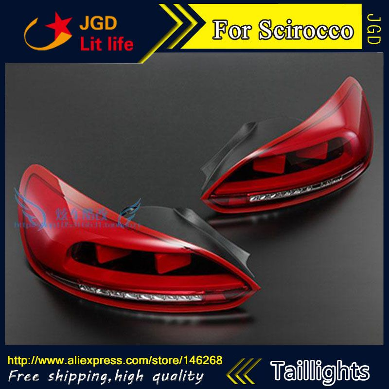 Car Styling tail lights case for VW Scirocco taillights Scirocco taillight LED Tail Lamp rear trunk lamp cover