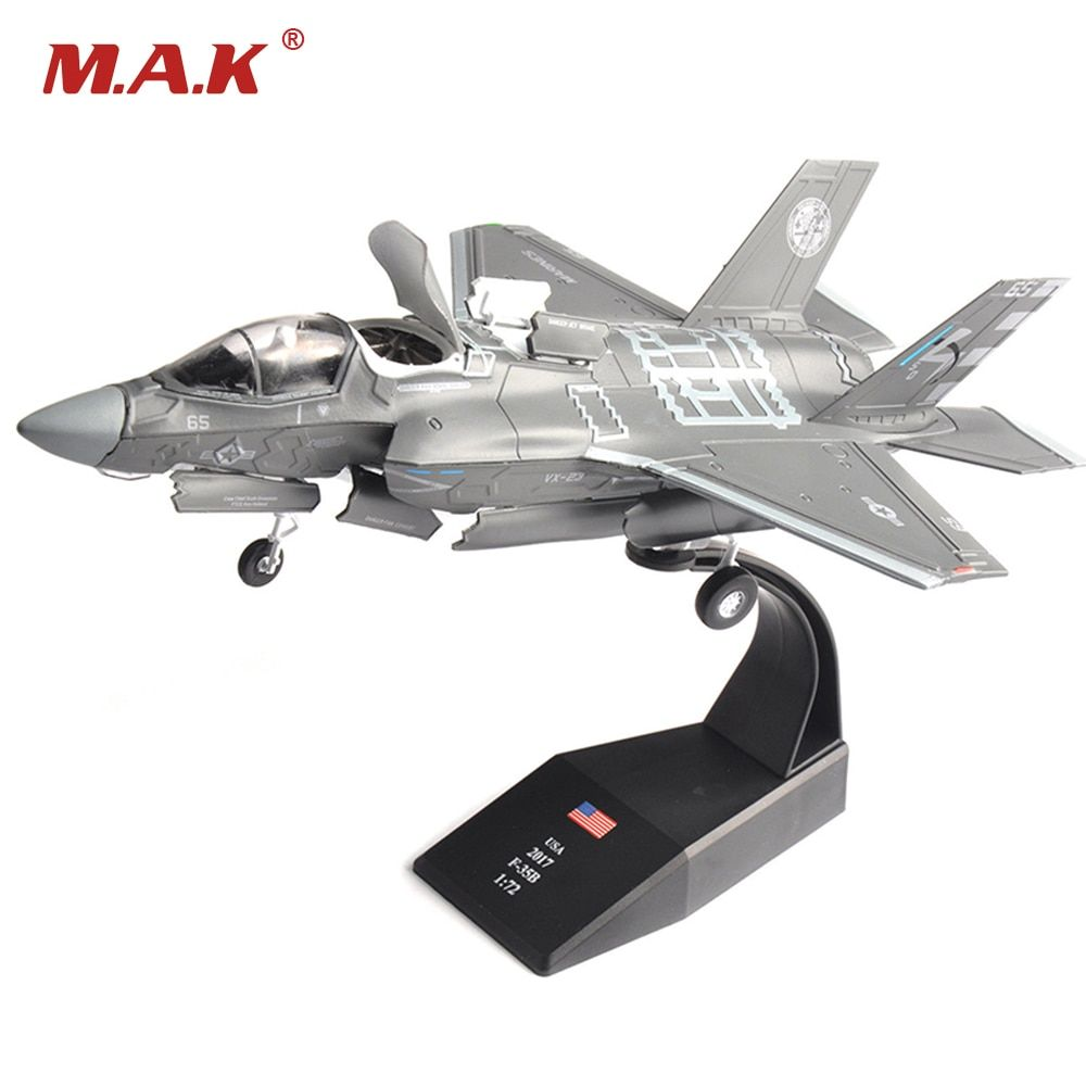 1/72 Scale F-35B Lockheed Martin Lightning II Aircraft F35 Fighter Models Airplane for Collections Gifts Toys