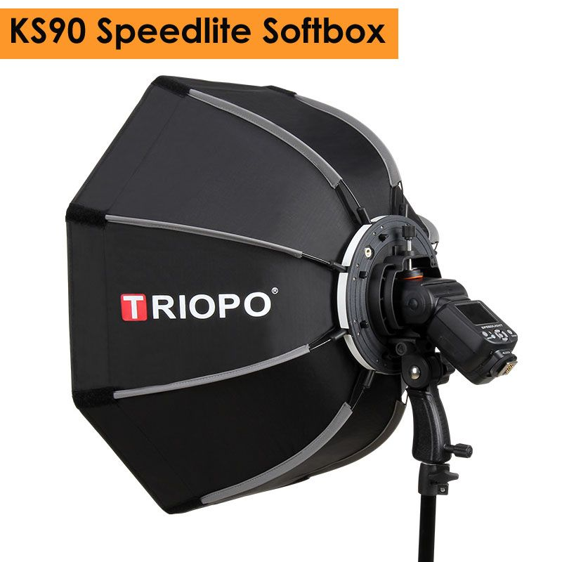 Triopo 90cm Photo Portable Outdoor Speedlite Flash Octagon Umbrella Softbox for Godox V860II TT600 YN560IV YN568EX TR-988
