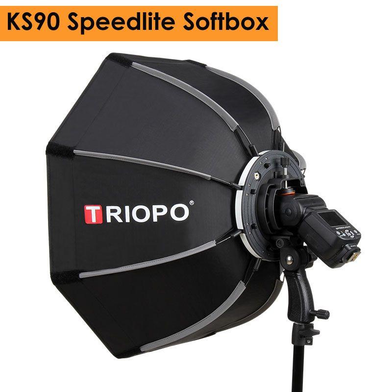 Triopo 90cm Photo Portable Outdoor Speedlite Flash Octagon Umbrella Softbox for Godox V860II TT600 YN560IV YN568EX TR-988