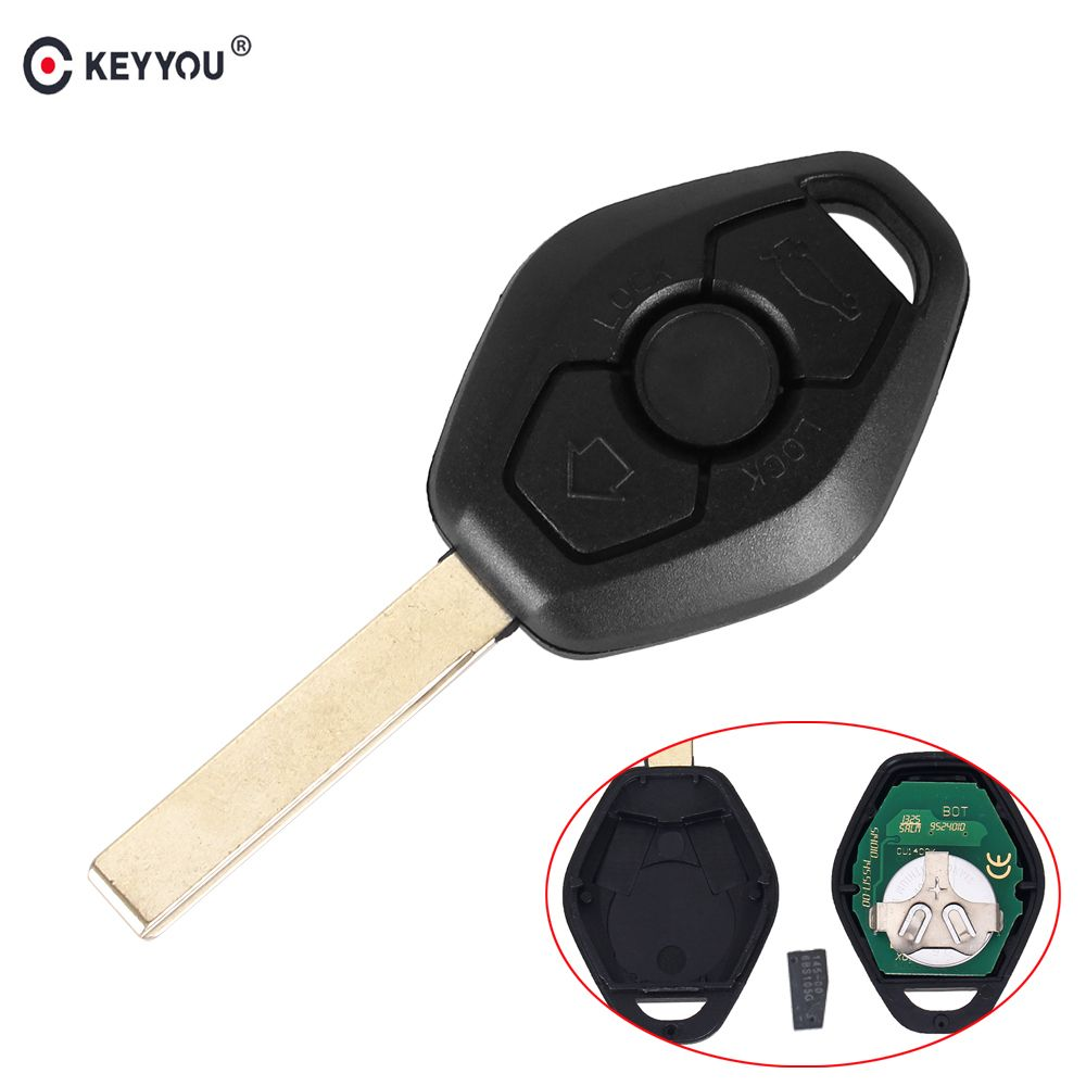 KEYYOU 3 Button Remote Key For BMW E38 E39 E46 EWS System 315/433MHZ With PCF7935AS ID44 Chip HU92 Blade