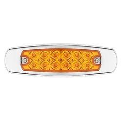 10 pcs LED Côté Jeu de Lumière Jaune 12 LED Camion Remorque Lumières Pour Peterbilt 24 V 6000 K