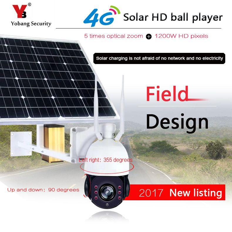 YobangSecurity 1080 P 2,0 Mt 5x Optischer Zoom Solar Power Batterie Überwachung Cctv-kamera WIFI Im Freien Wasserdichte Ip-kamera 4G SIM