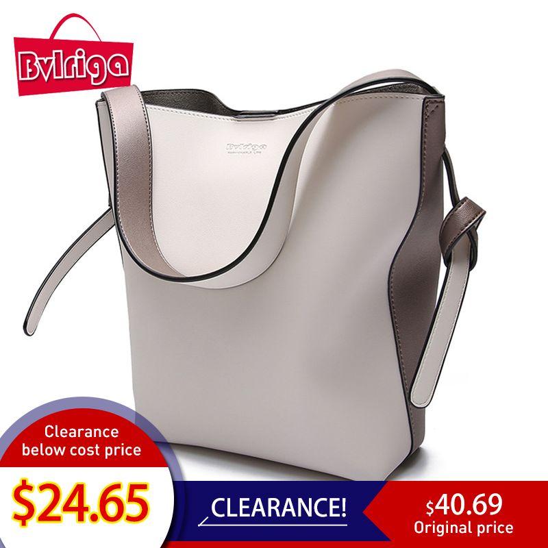 BVLRIGA Marque sacs à main de luxe sac pour femme Designer Femmes sac en cuir Femme sac à bandoulière sacs de postier pour femmes Seau Fourre-Tout Grand 2019