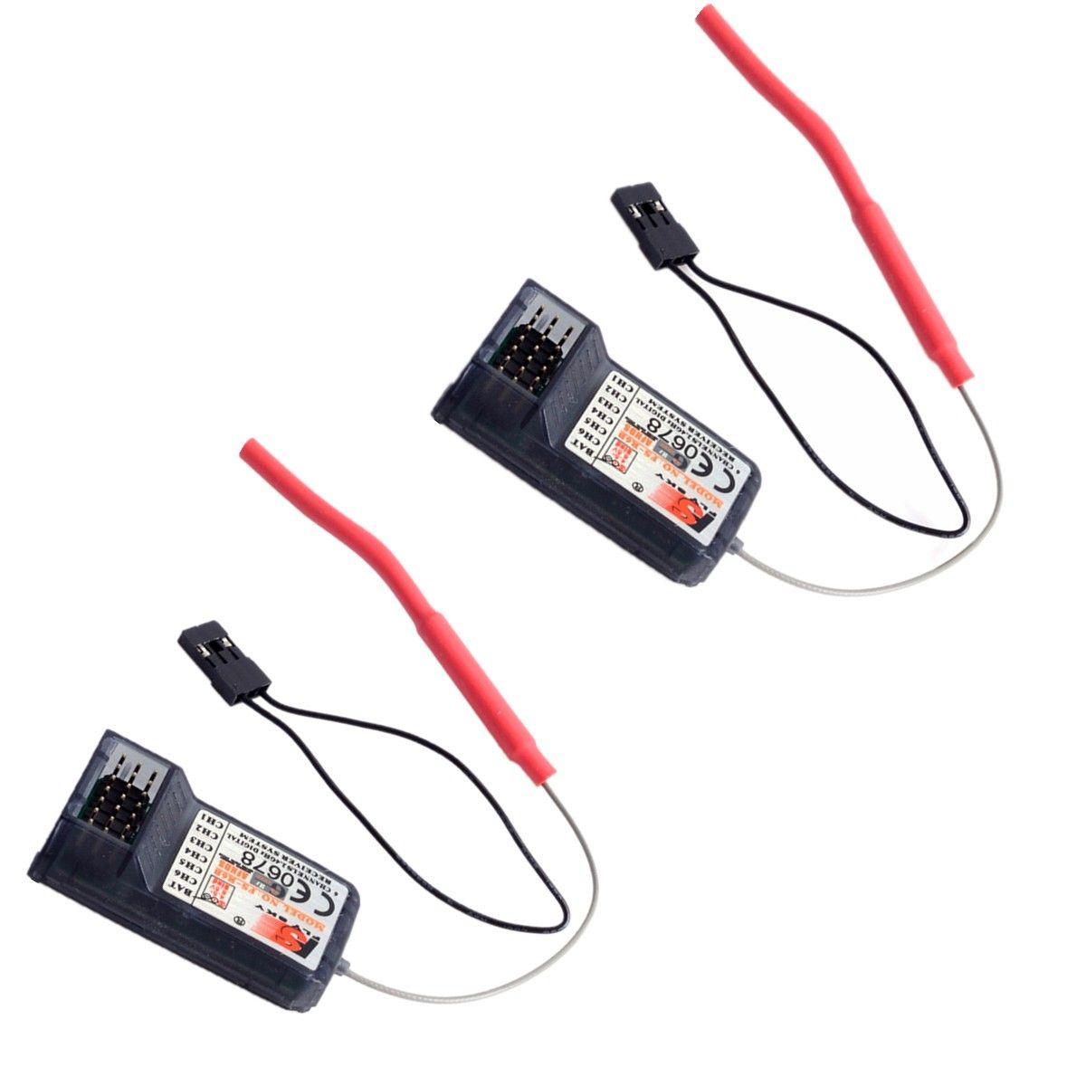2pcs FS-R6B FlySky 2.4Ghz 6CH FS R6B Receiver For RC FS-CT6B FlySky TH9x i6 i10 T6 CT6B