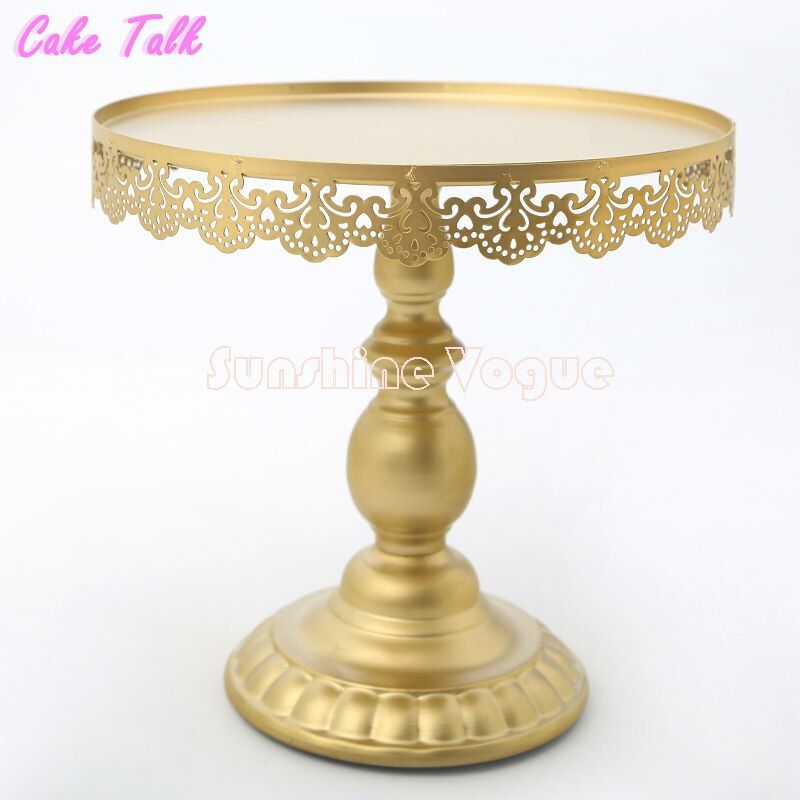 Gold cake stand with crystal pendant cupcake stand 1 piece wedding party decoration supplier cake tools decoration