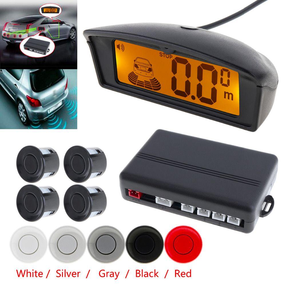Car Auto Parktronic LED Display Parking Sensor Reverse Backup Assistance Radar Monitor Detector System with Backlight 4 Sensors