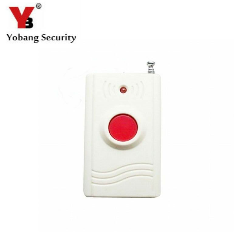 YobangSecurity Wireless 433MHZ Panic Button Emengency Button Help Elderly Wireless Emergency Calling System for Alarm System