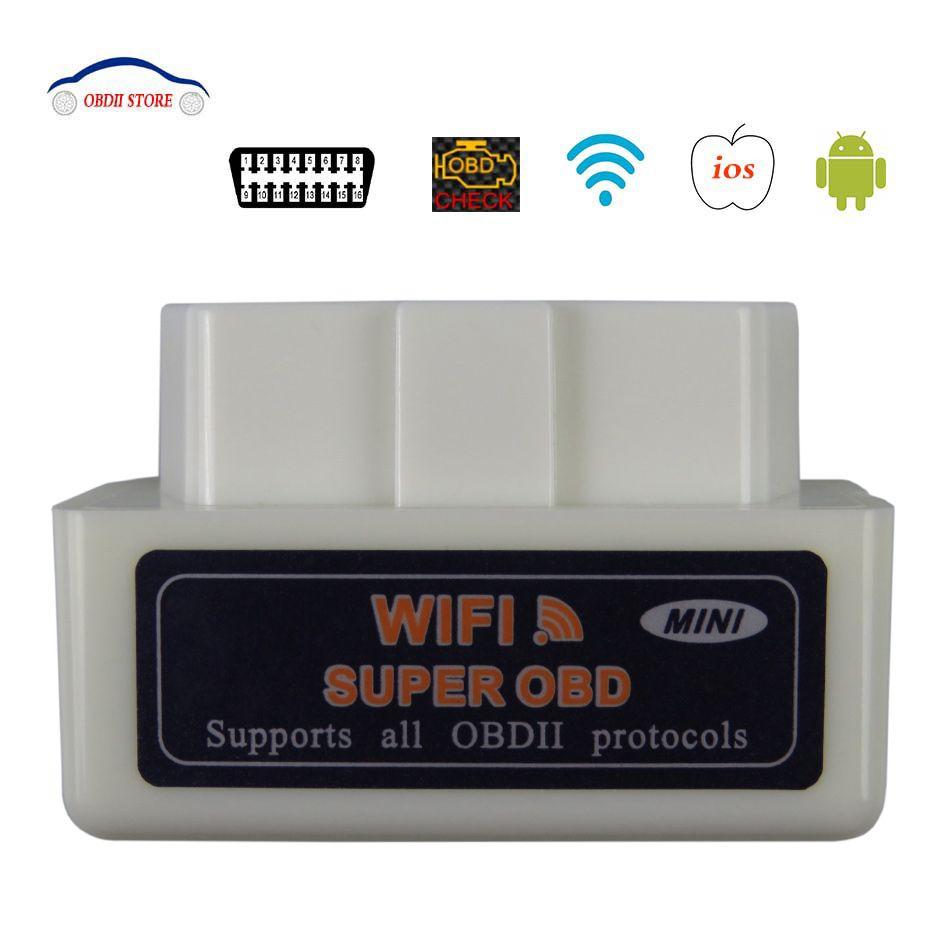 Scanner OBDII ELM 327 V1.5 ELM327 Wifi OBD2 Scanner de Diagnostic de voiture ELM-327 V 1.5 wi-fi OBD ii adaptateur outil de Diagnostic automatique