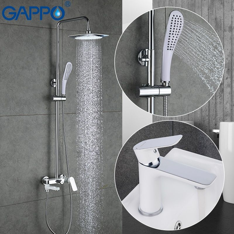 GAPPO white Basin Faucets water sink mixer basin mixer taps bathtub faucet bath tub mixer bathroom shower set