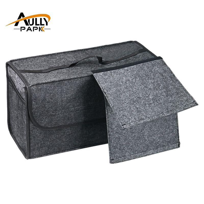 Car Seat Back Rear Storage Organizer Holder Interior Bag Felt Storage Box Trunk Bag Multi-use Tools Organizer Carpet Folding Bag