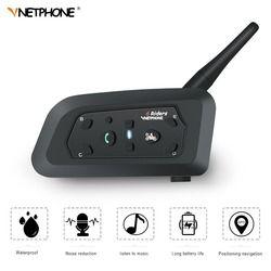 VnetPhone 1 Unidades V6 Bluetooth Moto casco de la motocicleta accesorios altavoz 1200 m Interphone inalámbrico bt-s2
