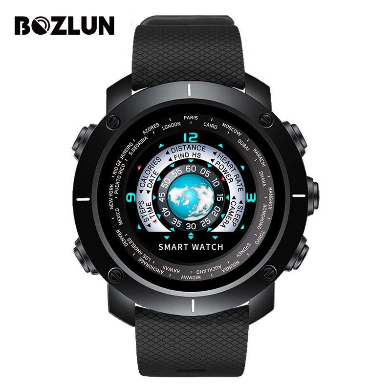 Bozlun Neue Intelligente Digitale Uhr Mann Herzfrequenz Kalorien Remote Kamera Wasserdichte Armbanduhr Mode Uhr Relogio Masculino W30