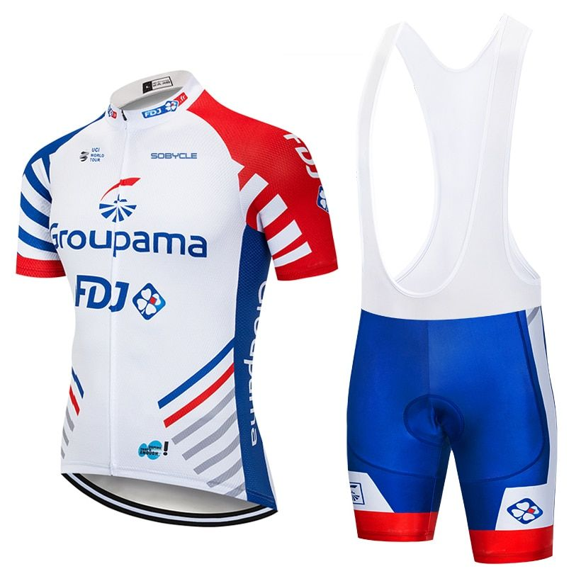 UCI team 2018 FDJ cycling jersey Bike shorts set MTB mens summer ropa ciclismo cycling wear pro BICYCLE Maillot Culotte