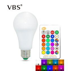 E27 E14 RGB лампа AC85-265V 3 W 5 W 10 W 15 W RGBW RGBWW светодиодный управляемый прожектор магический RGB лампа с ИК-пульта дистанционного управления Управление ...