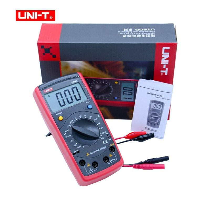 UNI-T UT602 Digital Professional Inductance Capacitance Meters LCR Meter transistor diode Continuity Buzzer