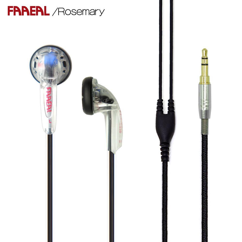 Newest FAAEAL Rosemary 150ohms High Impedance Hifi earphone DIY MX500 earbud Heavy bass earbuds