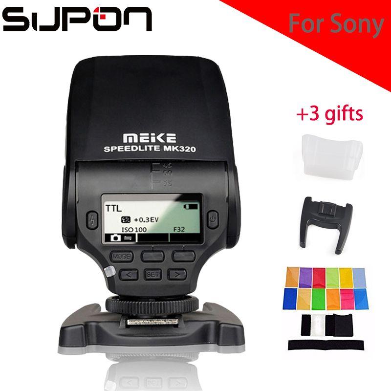 Meike MK320S GN32 TTL Flash Speedlight Compact Flash for Sony A7 A7S A7R A6000 A5000 NEX-6 NEX-5R NEX-5T NEX-3