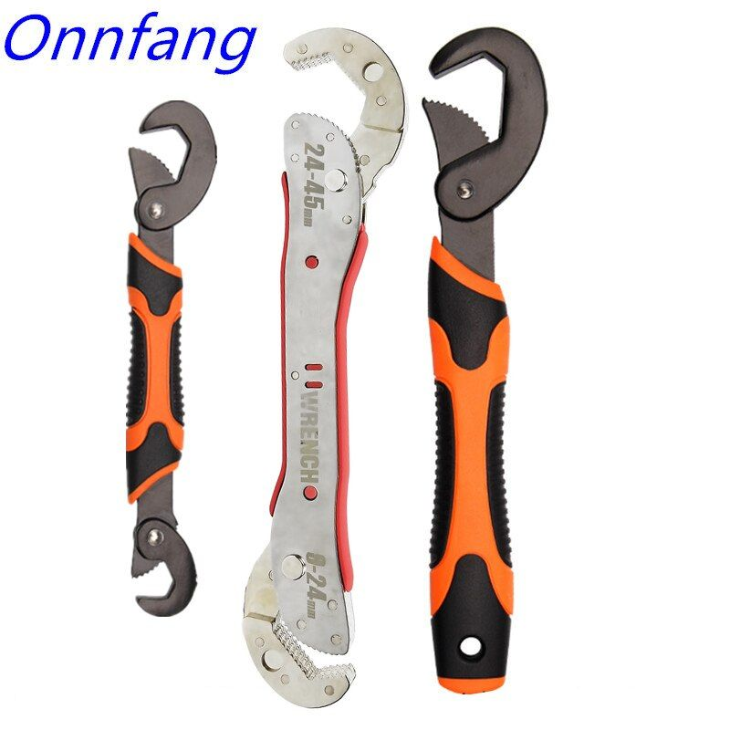 Hot Adjustable Spanner Multi-function Universal Wrench Tool Home Repair Key Hand tool Multi Purpose Universal Pipe Wrench