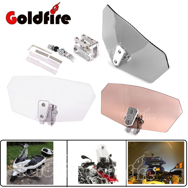 Universal Motor Airflow Adjustable Bolt-On Spoiler Windscreen Windshield For Scooter Piaggio KTM Suzuki Kawasaki KYMCO Vespa