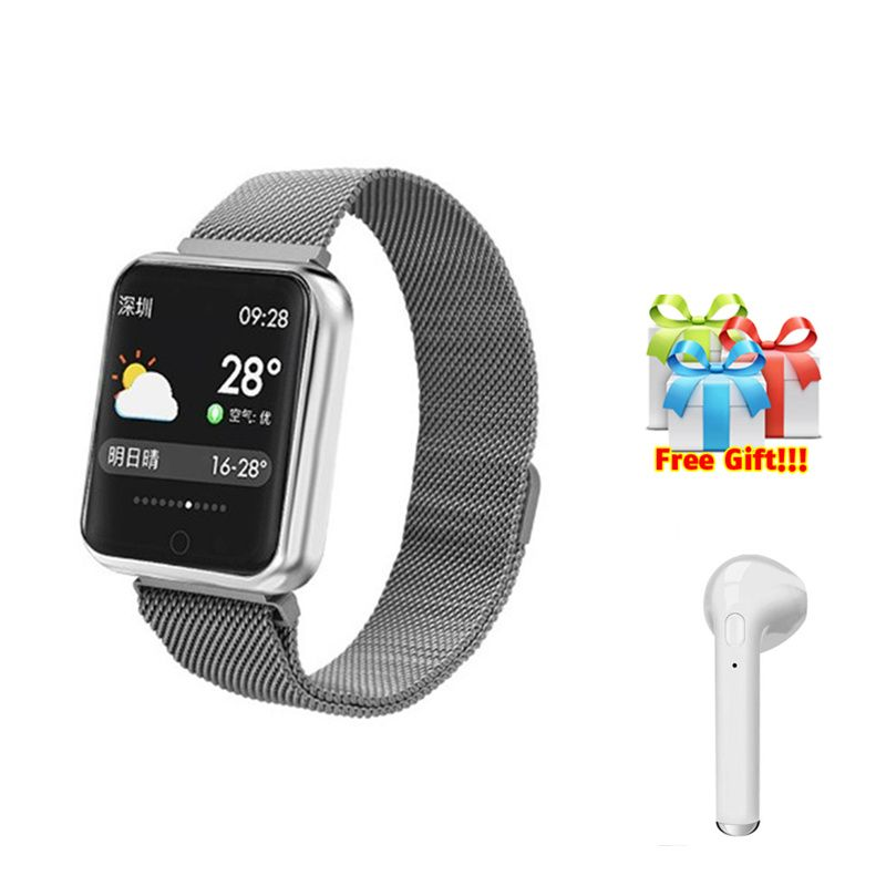 P68+earphone/set IP68 waterproof Smart Bracelet Wristband Heart Rate Monitor Fitness Tracker Watch Electronic Intelligent Clock