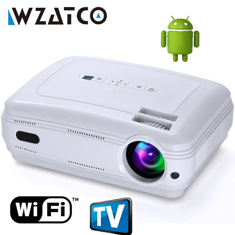 Newest Upgrade Android 7.1 Smart WIFI Airplay Miracast Bluetooth HD LED Projector 5500lumens TV Proyector Beamer Multi for Home