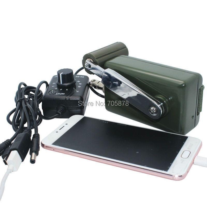 Portable Dynamo Phone Charger Military 30W/0-28V Hand Crank Generator
